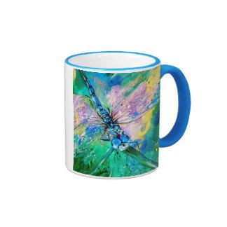 Darter Azul-Con alas Taza A Dos Colores