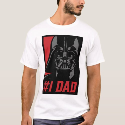 Darth Vader 1 Dad Stencil Portrait T_Shirt