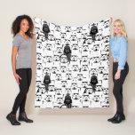 Darth Vader and Stormtrooper Crowd Pattern Fleece Blanket