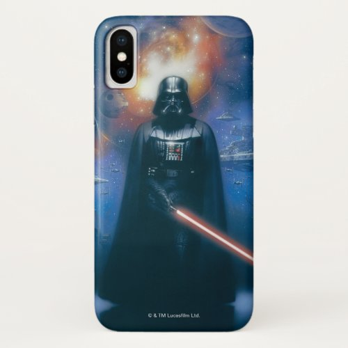 Darth Vader Imperial Forces Illustration iPhone X Case