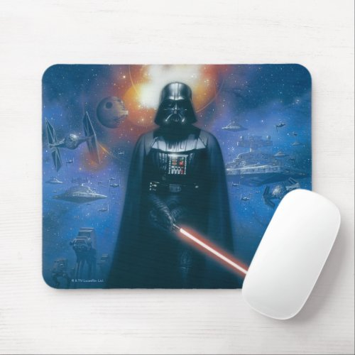 Darth Vader Imperial Forces Illustration Mouse Pad