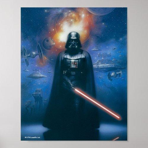 Darth Vader Imperial Forces Illustration Poster