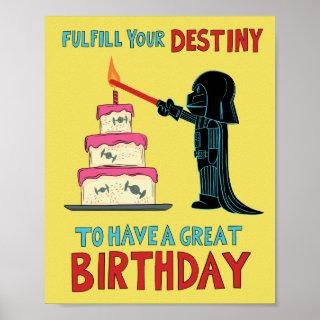 Darth Vader Lighting Birthday Candle Poster