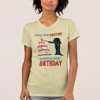 Darth Vader Lighting Birthday Candle T-Shirt
