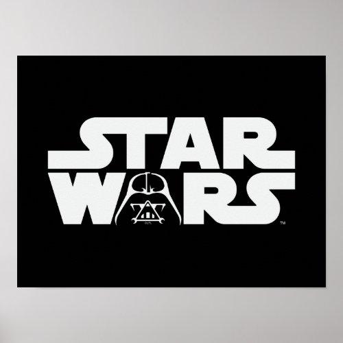 Darth Vader Star Wars Logo Poster
