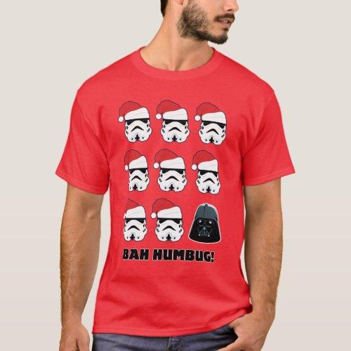 Darth Vader  Stormtrooper Bah Humbug T_Shirt