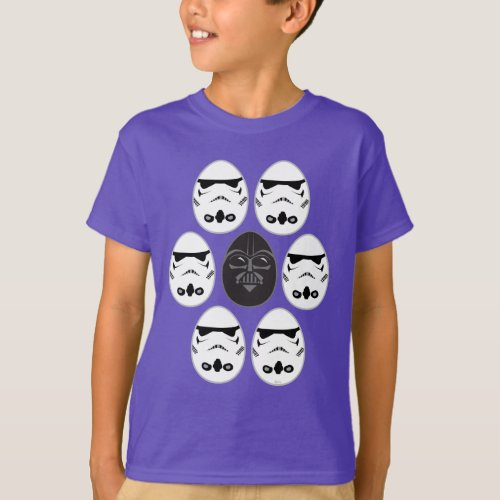 Darth Vader  Stormtrooper Easter Egg Pattern T_Shirt