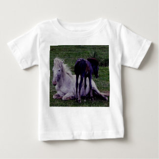 Dartmoor Grey Pony Mare Resting Foal Standing T-shirts