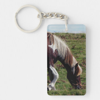 Dartmoor Hill Pony Grazeing Keychain