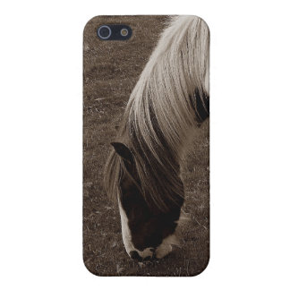 Dartmoor Hill Pony Grazing . Sepia Case For The iPhone 5
