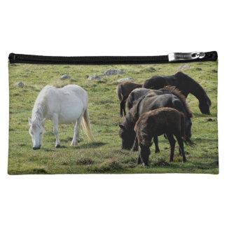 Dartmoor Ponies Grazing Summer Cosmetic Bag