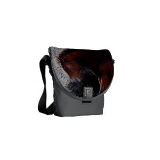Dartmoor Pony Foal Itching Bone Hill Rocks Messenger Bag