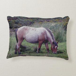Dartmoor Pony Grazing Autumn Accent Cushion