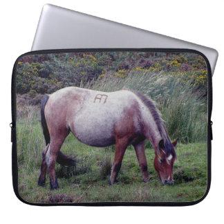 Dartmoor Pony Grazing Early Autumn Computer Sleeve