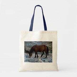 Dartmoor pony in rocks in remote south Devon Tote Bag