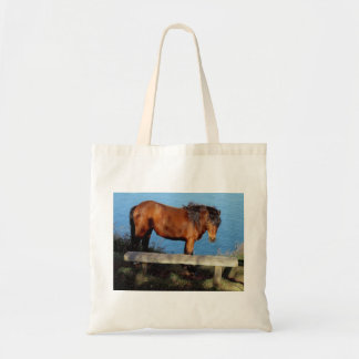 Dartmoor pony on remote coast path in south Devon Tote Bag