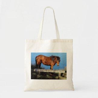 Dartmoor pony on remote coast path in south Devon Tote Bag
