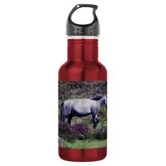 Dartmoor Pony Roaming In The Heather 18oz Water Bottle