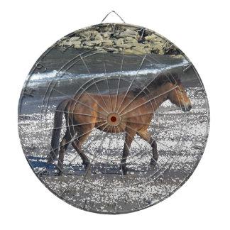 Dartmoor Pony Trotting On Beach Dart Boards