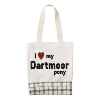 Dartmoor pony zazzle HEART tote bag