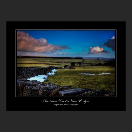 Dartmoor Road to Two Bridges - gallery print