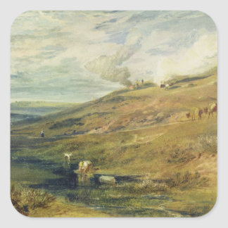 Dartmoor: The Source of the Tamar and the Torridge Square Sticker