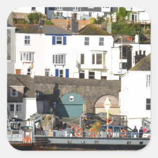 Dartmouth ferry. square sticker