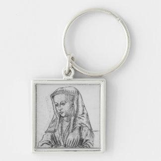 d'Artois de Bonne, condesa de Nevers y Rethel Llavero Cuadrado Plateado