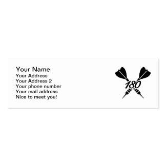 Darts 180 mini business card