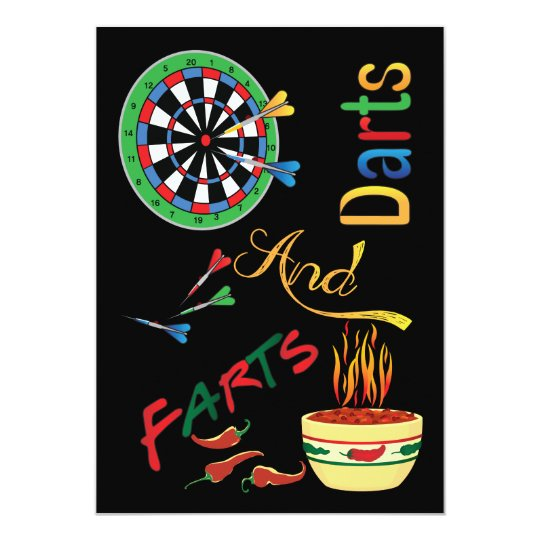 Darts and Farts New Dad Baby Shower Card