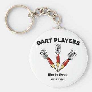 Darts Basic Round Button Keychain
