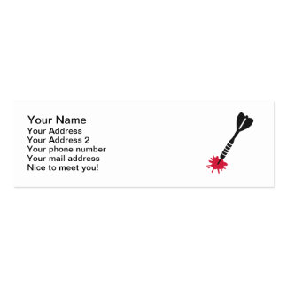 Darts blood mini business card