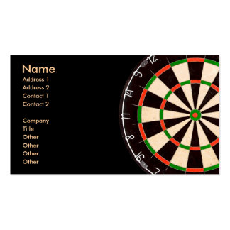 Darts Board Business Card Templates