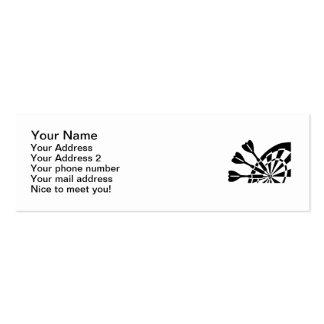 Darts board mini business card