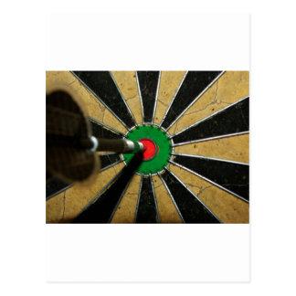 Darts Bullseye Postcard