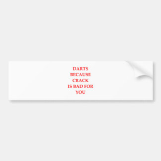 darts bumper sticker