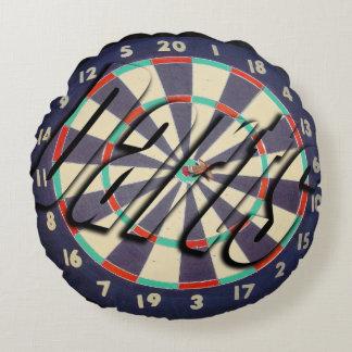Darts, Dartboard And Logo Bullseye  Throw Cushion