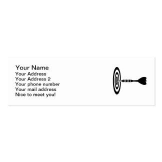Darts dartboard mini business card