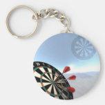Darts Design Basic Round Button Keychain
