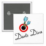 Darts Diva 2 Inch Square Button