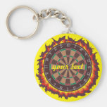 Darts Game Personalized Basic Round Button Keychain
