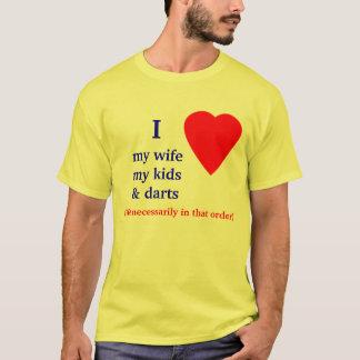 Darts I Heart My Wife T-Shirt