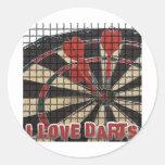 Darts iGuide Bulls Eye Round Stickers
