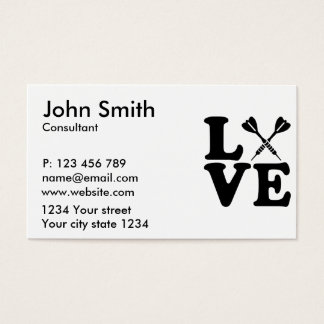 Darts love business card