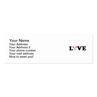 Darts love mini business card