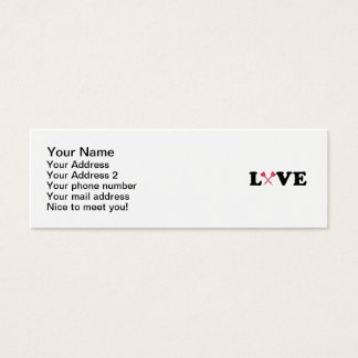 Darts love mini business card