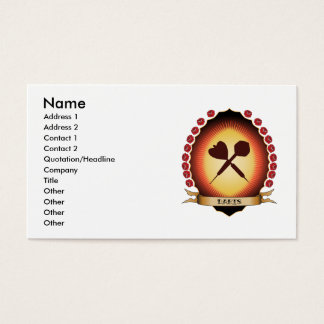 Darts Mandorla Business Card