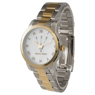 Darts Personalized Roman Numerals Watch