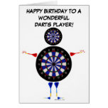 Darts Player Birthday Greeting Card