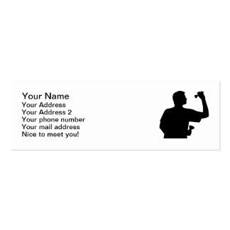 Darts player mini business card